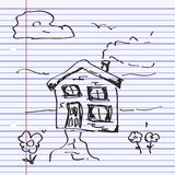 Simple doodle of a house Royalty Free Stock Photography
