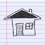 Simple doodle of a house Stock Image