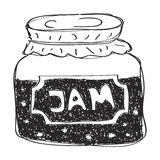 Simple doodle of a jam jar Royalty Free Stock Images