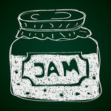 Simple doodle of a jam jar Stock Photography