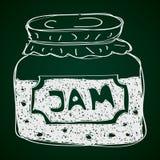Simple doodle of a jam jar Stock Photography