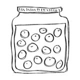 Simple doodle of a jar Royalty Free Stock Images