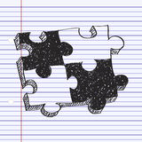 Simple doodle of a jigsaw piece Stock Image