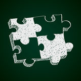 Simple doodle of a jigsaw piece Stock Images