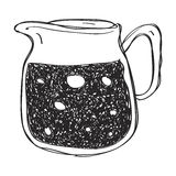 Simple doodle of a jug Royalty Free Stock Photo