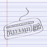 Simple doodle of a keyboard Royalty Free Stock Photo