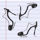 Simple doodle of a ladies shoe Royalty Free Stock Images