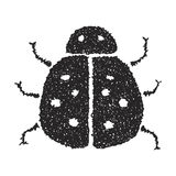 Simple doodle of a ladybird Stock Photography