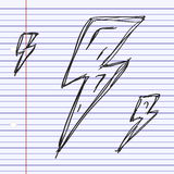 Simple doodle of a lightning bolt Royalty Free Stock Photos