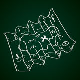 Simple doodle of a map Royalty Free Stock Images