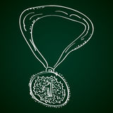 Simple doodle of a medal Royalty Free Stock Photos