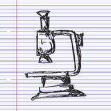 Simple doodle of a microscope Stock Photography