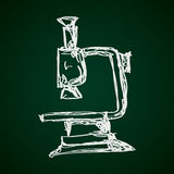 Simple doodle of a microscope Stock Photos