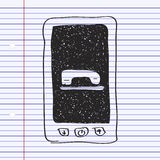 Simple doodle of a mobile phone Stock Image