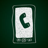 Simple doodle of a mobile phone Royalty Free Stock Photography