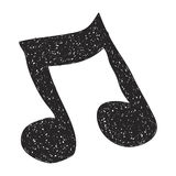 Simple doodle of a music note Royalty Free Stock Images