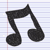 Simple doodle of a music note Royalty Free Stock Image