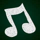 Simple doodle of a music note Royalty Free Stock Photo