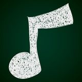 Simple doodle of a music note Royalty Free Stock Photography
