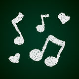 Simple doodle of a music note Royalty Free Stock Photos