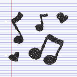 Simple doodle of a music note Stock Images