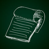 Simple doodle of a notepad Royalty Free Stock Photo