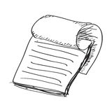 Simple doodle of a notepad Royalty Free Stock Images