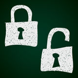Simple doodle of a padlock Royalty Free Stock Images