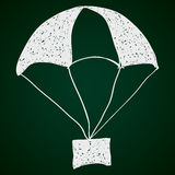 Simple doodle of a parachute Royalty Free Stock Photos