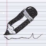 Simple doodle of a pencil Stock Images