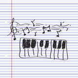 Simple doodle of a piano Stock Images