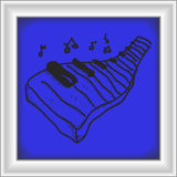 Simple doodle of a piano keyboard Stock Images