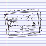 Simple doodle of a picture Royalty Free Stock Photo