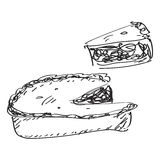 Simple doodle of a pie Royalty Free Stock Photo