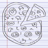 Simple doodle of a pizza Stock Image