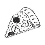 Simple doodle of a pizza Royalty Free Stock Photos