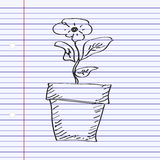Simple doodle of a plant Stock Photography