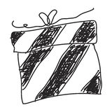 Simple doodle of a present Stock Photography
