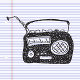 Simple doodle of a radio Stock Photography