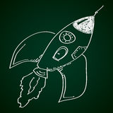 Simple doodle of a rocket Royalty Free Stock Image