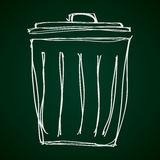 Simple doodle of a rubbish bin Royalty Free Stock Photography