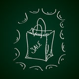 Simple doodle of a sale bag Royalty Free Stock Photos