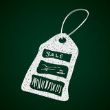 Simple doodle of a sale tag Royalty Free Stock Image