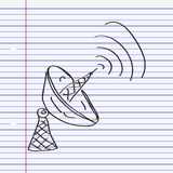 Simple doodle of a satalite dish Royalty Free Stock Image