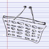 Simple doodle of a shopping basket Stock Images