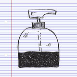 Simple doodle of a soap dispenser Royalty Free Stock Photography
