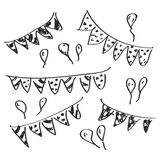Simple doodle of some bunting Royalty Free Stock Photos