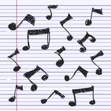 Simple doodle of some music notes Royalty Free Stock Photos