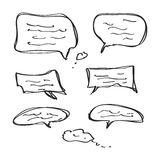 Simple doodle of some speech bubbles Royalty Free Stock Photos