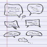 Simple doodle of some speech bubbles Royalty Free Stock Image